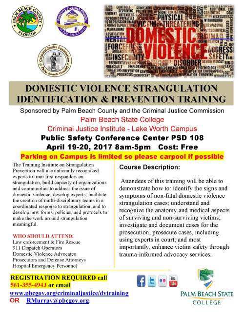DV Stranguation Prevention Training Flyer