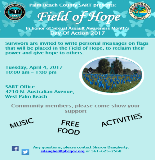 new Field of Hope flyer