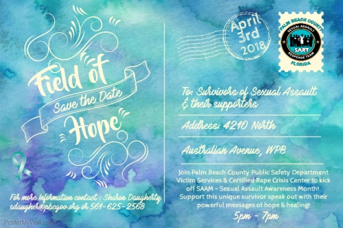 Field of Hope Save the Date 4.3.18